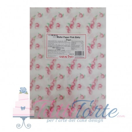 Wafer Paper Pink Baby Flowers