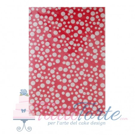 Wafer Paper Dots & Stripes Red